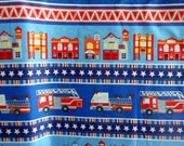 Fire truck Fabric Fire House Cotton Fabric Sewing Fabric Quilting Fabric Craft Material Benartex