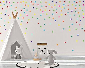 Rainbow Confetti Polka Dot, wall decals kids Room, Nursery wall decal, polka dot sticker, Polka dots art, baby room decals, polka dot decals
