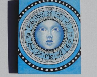 The Zodiac - Original Watercolor Painting