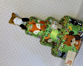 Baby Diaper Cake Woodland Animals SELECT TOPPER RIBBONS Shower Gift Centerpiece