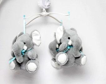 Baby Mobile Elephants Boys Nursery Crib Decoration Plush Shower Gift