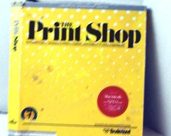 Vintage Print Shop Software Program Box only