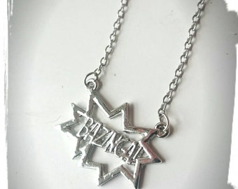 BAZINGA Big Bang Theory Inspired Symbol Charm Necklace - Geek Fan TV Series