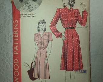 Vintage Hollywood Pattern Featuring Eleanore Whitney of Paramount