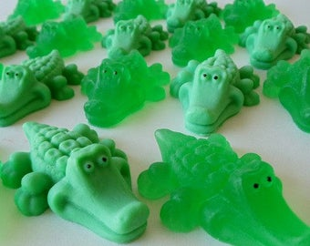 55 alligator soap favors - peter pan baby shower favors - alligator birthday favors - swamp baby shower favors - jungle birthday favors