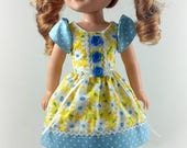 14.5 Inch Doll Clothes - Dress fits Dolls Like Wellie Wishers Doll Clothes