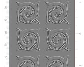 A303 (Spiral Shapes)  for the Rolling Mill, Low Relief Pattern.