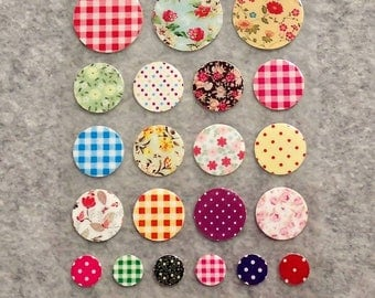 Mixed Cute PVC Round Stickers - R02