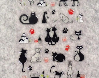 Mixed Cute PVC Cat Stickers