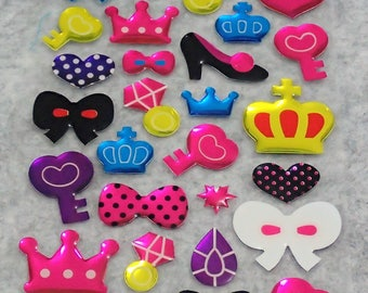 Assorted Mixed Cute PVC Shining Stickers
