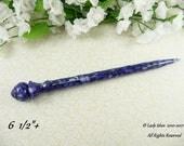 Hair Stick Longer Length Pearly Dark Blue Acrylic Batch Two