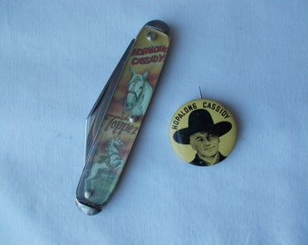 Hopalong Cassidy Novelty Knife and Pin