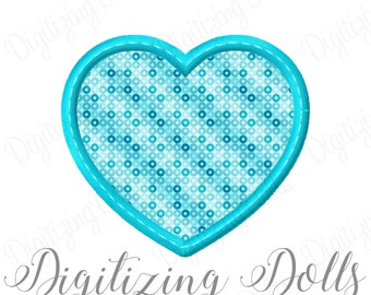 Bean Stitch Heart Applique 2 Machine Embroidery Design 2x2 3x3 4x4 5x5 6x6 7x7 8x8 Love Valentine Valentines Day INSTANT DOWNLOAD