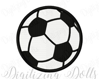 Soccer Ball Solid Fill Machine Embroidery Design 1x1 2x2 3x3 4x4 5x5 football foot ball fuss ball INSTANT DOWNLOAD