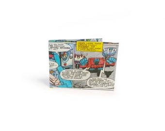 Transformers Card Holder - Vintage Comic - for Oyster Card, school bus pass, Tube, Metro, travel cards