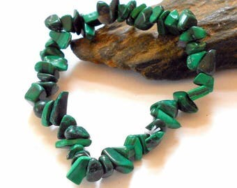 Malachite Chip Stretch Bracelet earthegy Bracelets #1809