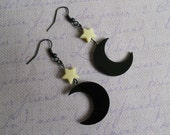 moon and stars Earrings pastel goth Lolita fairy kei