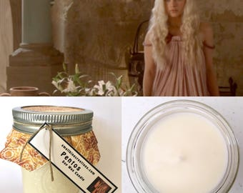 Game of Thrones Daenarys Targaryen Pentos Scented Hand Poured Natural Soy Wax Candle - 8oz jar