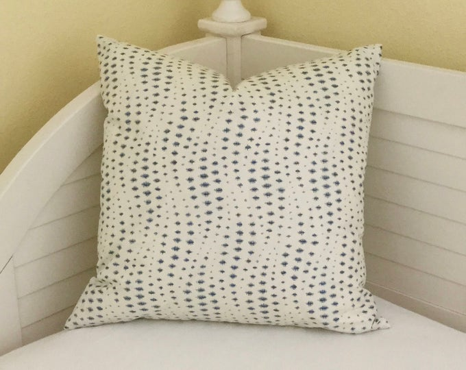 Kravet Rippledrop in Ultramarine Designer Pillow Cover - Square, Lumbar and  Euro Sizes