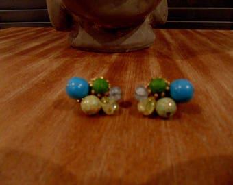 Stunning Turquoise  Clip on Earrings by Hattie Carnegie