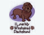 Wirehaired Dachshund Tea Towel | Embroidered Kitchen Towel | Embroidered Towel | Embroidered Tea Towel | Dog Lover Giftl | Hand Towel