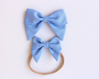 Sailor Bows - Large and Mini - Periwinkle