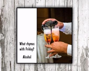 Magnet - Funny fridge magnet ~ Alcohol