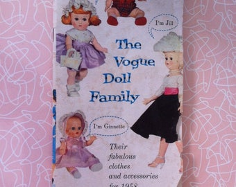 Ginny The Vogue Doll Family Booklet 1958 Clothing and Accessories