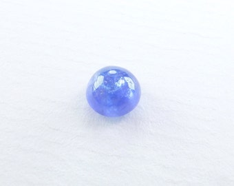 TANZANITE. Natural.  Blue. Smooth Cabochon. Round. 1 pc. 1.69 cts.  6.5 mm (TZ202)