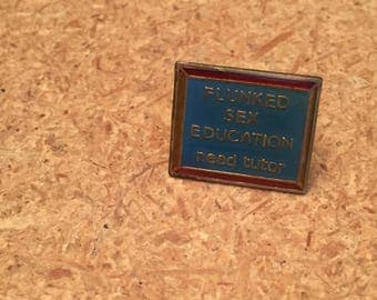 Vintage Sex Ed Enamel pin
