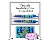 ON SALE Bead Pattern Peyote(Pen Wrap/Cover)-Peacock