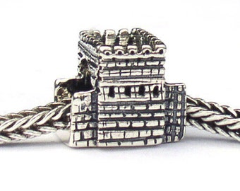 Great Wall of China Landmark Bead Sterling Silver LM027