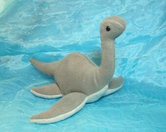 Grey Loch Ness Monster Fleece Plush Stuffed Animal Dinosaur