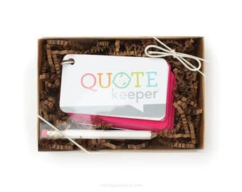 Quote Keeper™ Gift Set // Fuchsia Pink