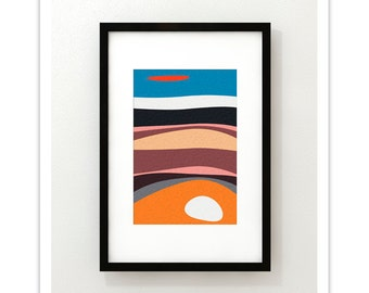 IMPRESSION no.2 - Giclee Print - Mid Century Modern Danish Modern Abstract Art Print