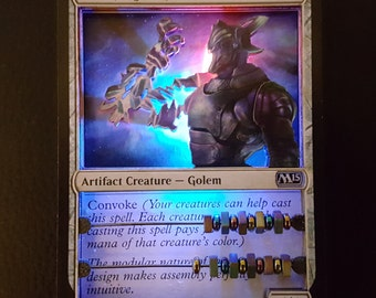 Layer Art- !!!Lights Up!!! - 3D- Life Counter: Will Forged Golem - Magic the Gathering