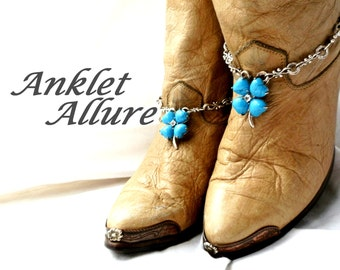 Turquoise Boot Chains Southwestern Boot Jewelry Boho Boot Bracelets Fashion Foot Jewelry