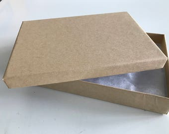 Kraft Paper Box 7-1/8 x 5-1/8 x 1-1/8 inch rectangle