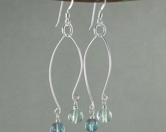 SALE! Energy Clearing earrings with Fluorite (488)