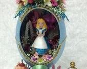 Disney Egg Sculpture~~Alice in Wonderland~~REAL Emu egg~~OOAK