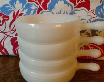 Vintage Mid Century Milk Glass Glasbake Soup Bowl Ramekin