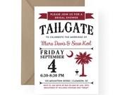 USC - University of South Carolina Gamecocks Tailgate Party Invitation South Carolina Palmetto Moon Wedding Rehearsal Dinner, Birthday