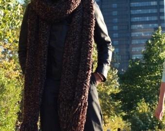 The EROICA: Oversized Scarf - Lenny Kravitz Scarf - Earth Shades