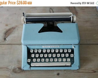 SHOP SALE Vintage Aqua Tom Thumb Typewriter