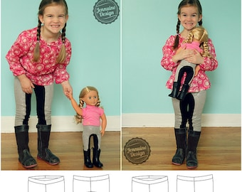 Dressage Leggings Dolly and Me Pattern Bundle