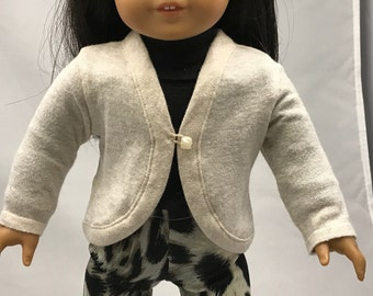 Lightweight 18 inch doll sweater