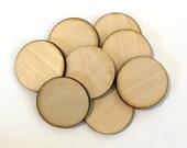 """Unfinished Round Wood Circle Craft Discs 2"""" Set of 50, Laser Cut, Wood disc, laser cut wood, laser cut circle"""