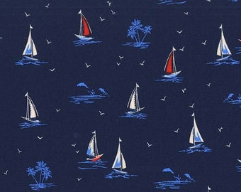 Sail On in Navy DC7165 - Michael Miller Fabrics - By the Yard