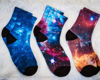 Galaxy Socks - Space Socks , Universe Pattern, Nebula
