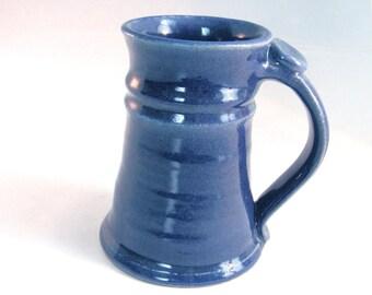 Blue Stein - 16 oz. Tankard - Stein - Coffee Mug - Handmade Pottery - Renaissance Stein - Pottersong Pottery - Denim Jeans Blue